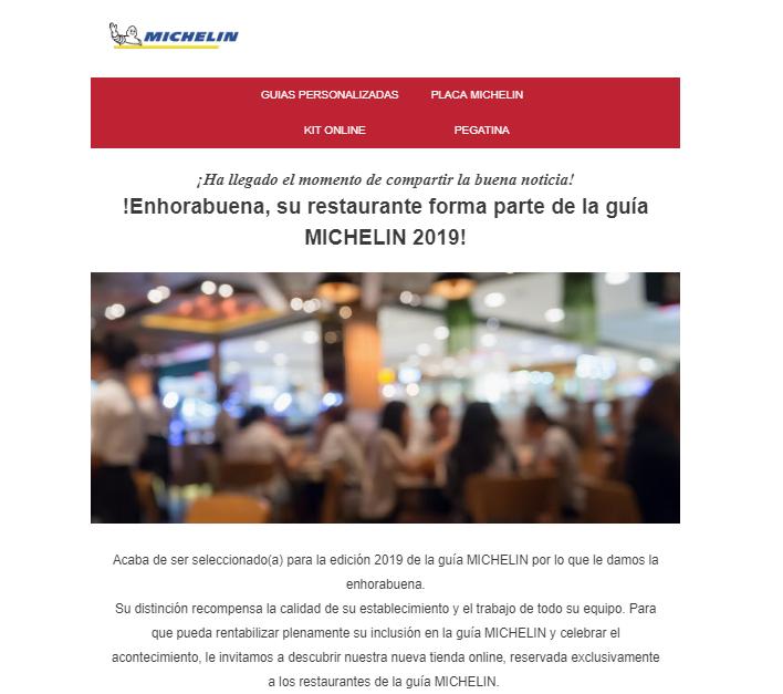 Recomendado Guia Michelin 2019