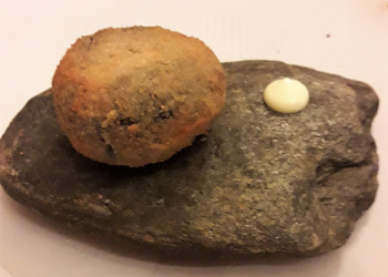 Bombón crujiente de chipirón